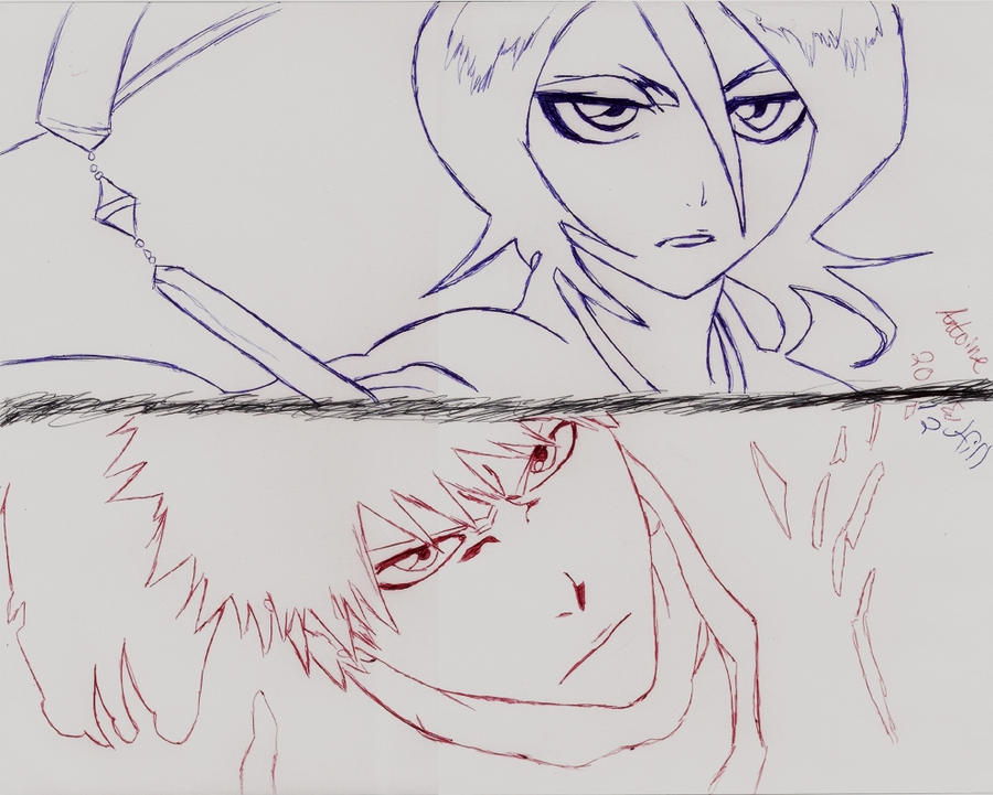 Bleach Pen drawing by Wanted75