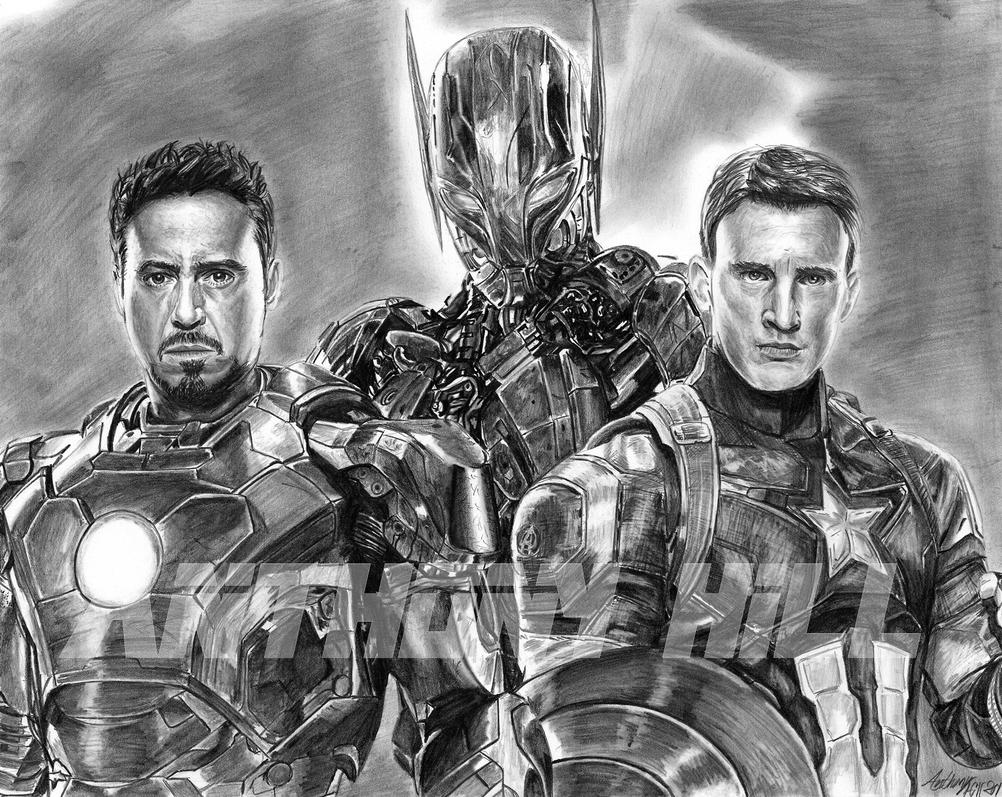 Avenger Age Of Ultron Sketch: Avengers: Age Of Ultron By Wanted75 On DeviantArt