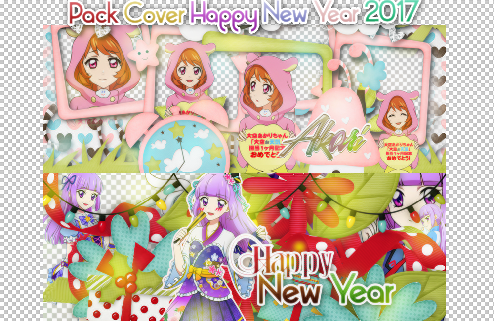 Pack Cover Scrapbook Happy New Year by ASY-Rain