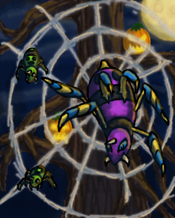 Ivona's random sprites/sketches - Page 3 The_spider_s_web_by_gothica_the_eevee-d84laev