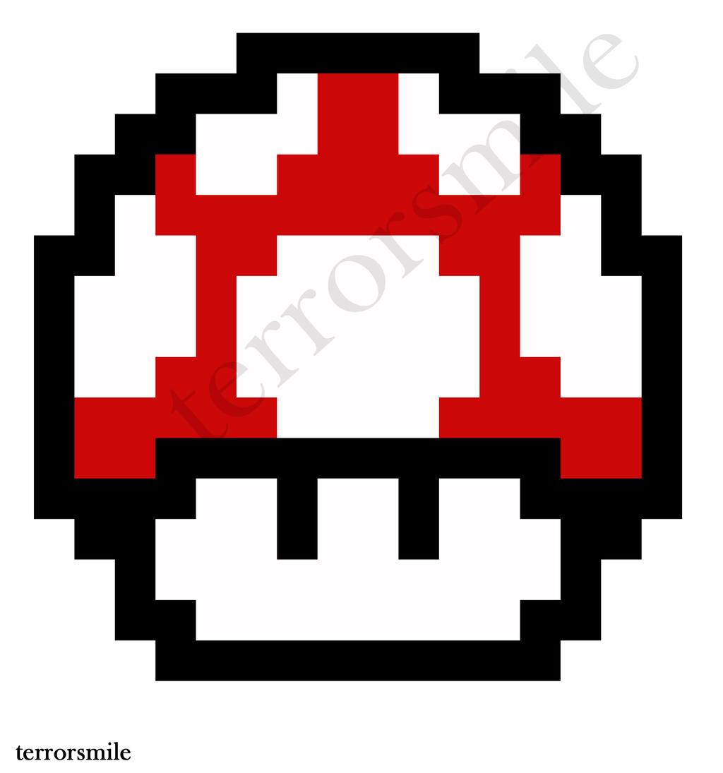 8bit Mushroom Stencil by terrorsmile on DeviantArt