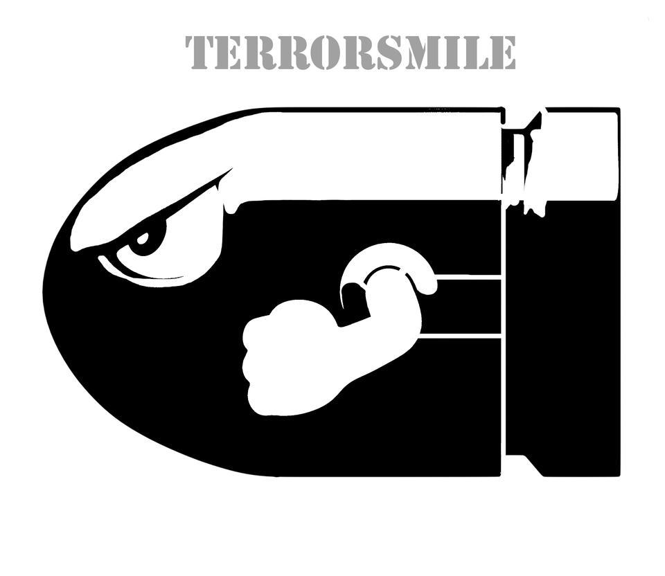 Super Mario Bullet Stencil Terrorsmile On Deviantart Jpg 961x832 Bros Stencils
