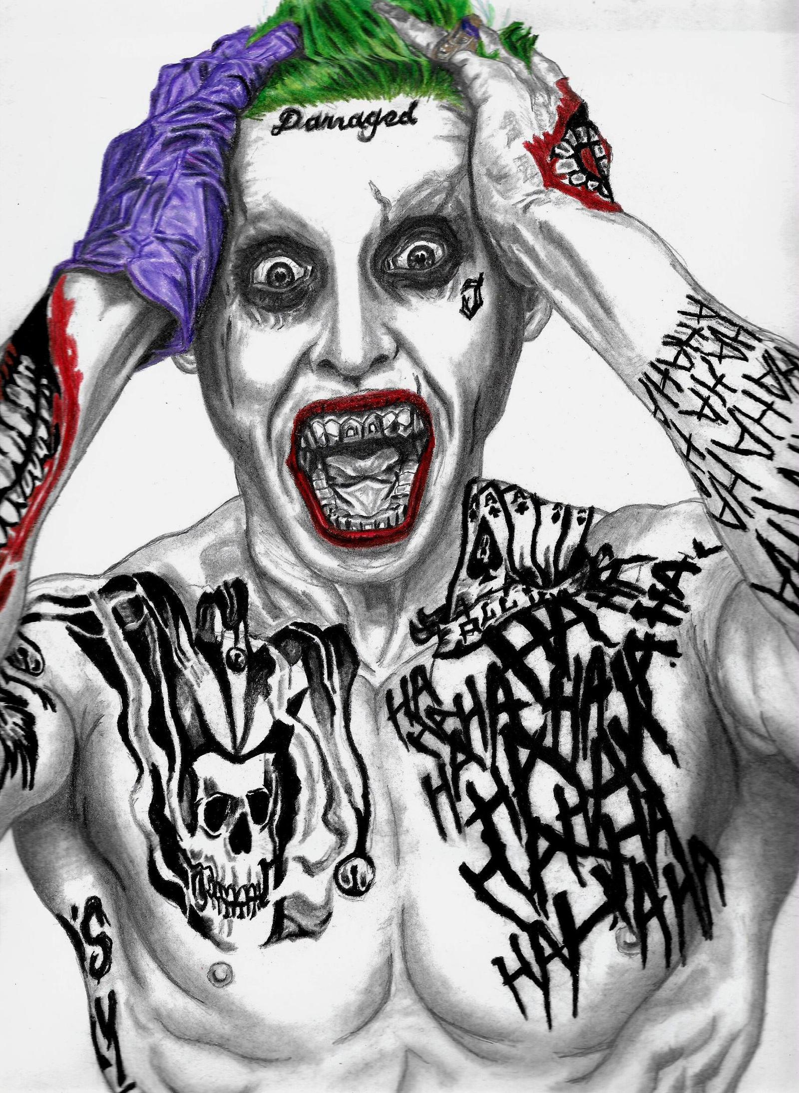 Joker-Suicide Squad (Jared Leto) By RodrigoSojo14 On