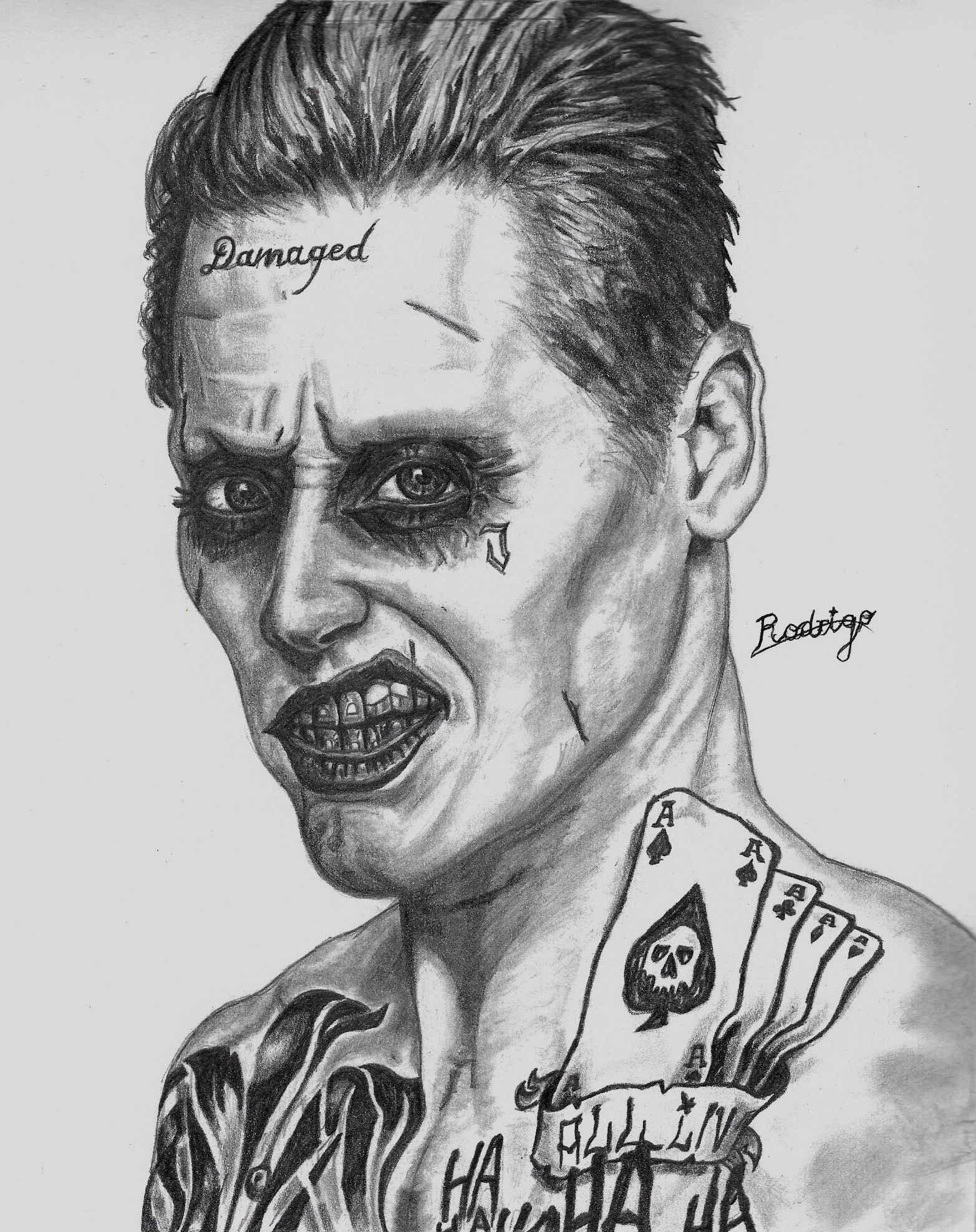 Joker From Suicide Squad (Jared Leto) By RodrigoSojo14 On