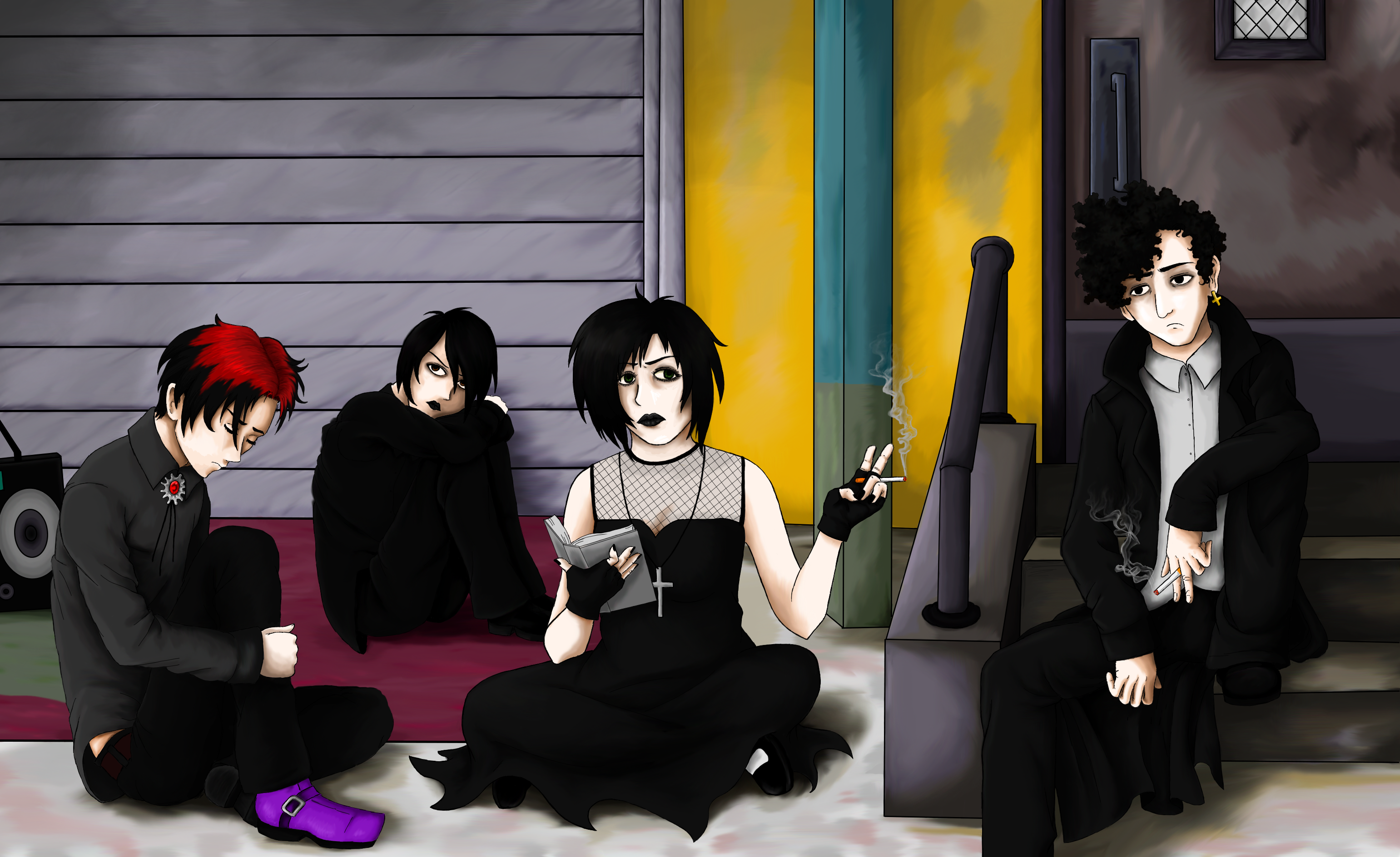 South Park- The non-conformist Goth kids by Awkward-Hermit