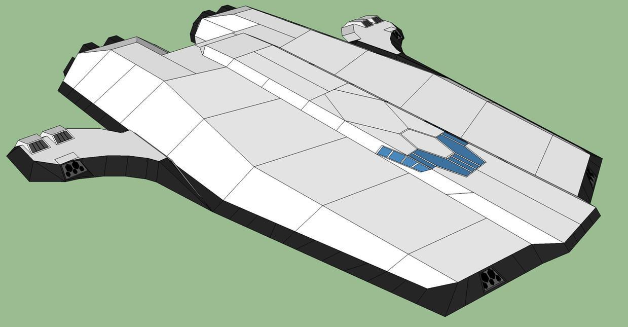 Silenvo Rimworld Starship - ISO View by Ryuseimaru