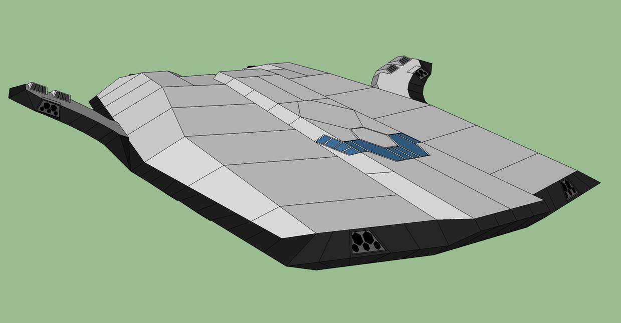 Silenvo Rimworld Starship - Wings Folded by Ryuseimaru