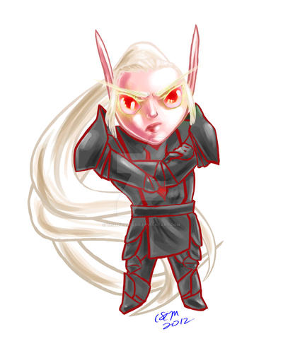 Character Portrait: Chibi Talaen by teutelquessir