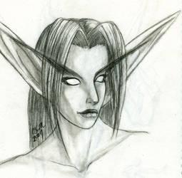 Random Night Elf Woman by teutelquessir