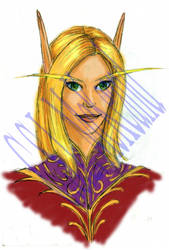 WIP 03: Portrait - Vonora by teutelquessir