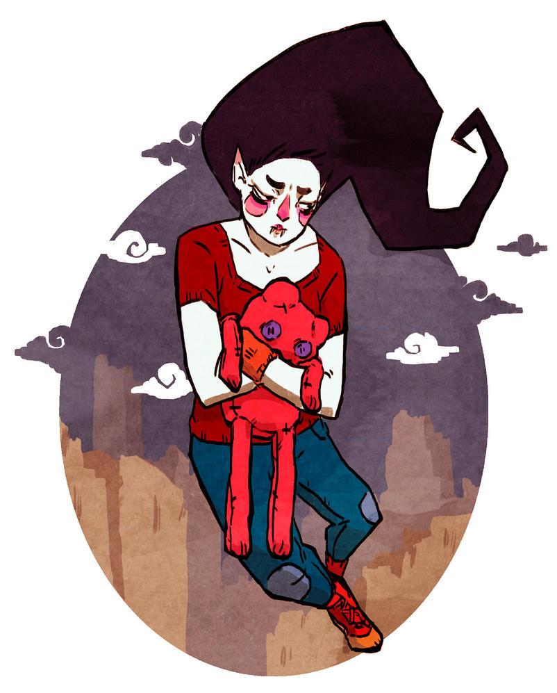 Marceline Alone by hatthecat123