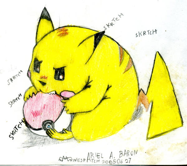109. angsty pikachu by minespatch