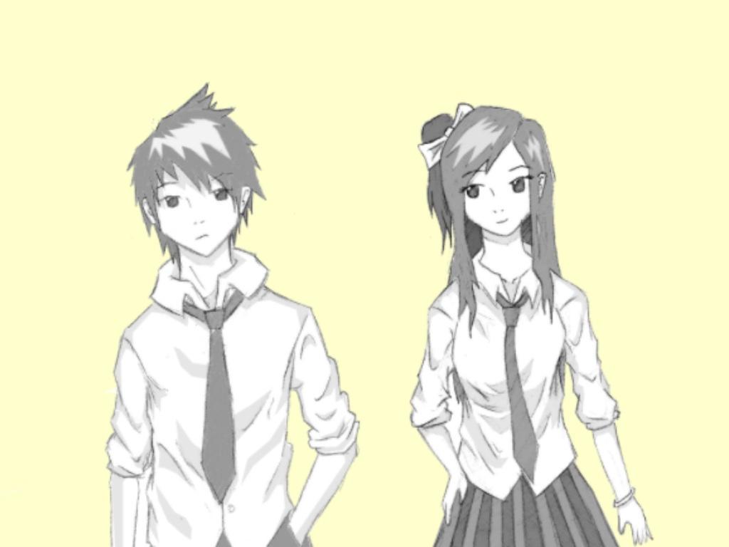 Anime Boy And Girl anime:boy and girl.xshadowxart on deviantart