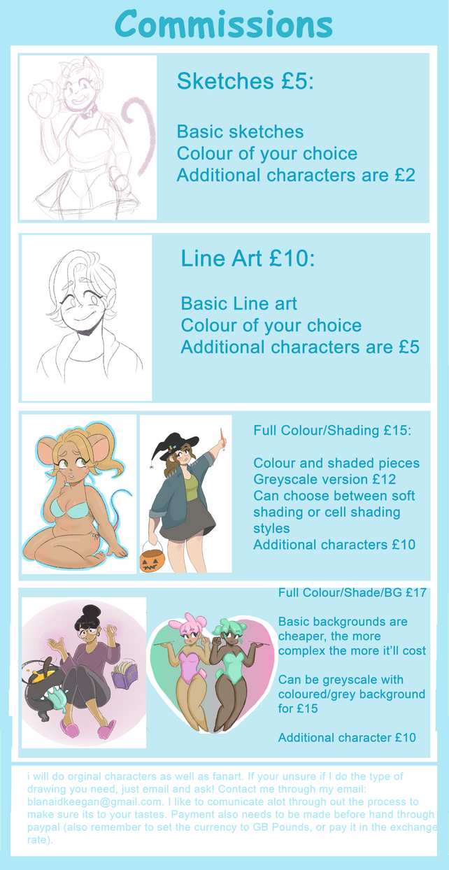Commissions Info by Awesome-flower