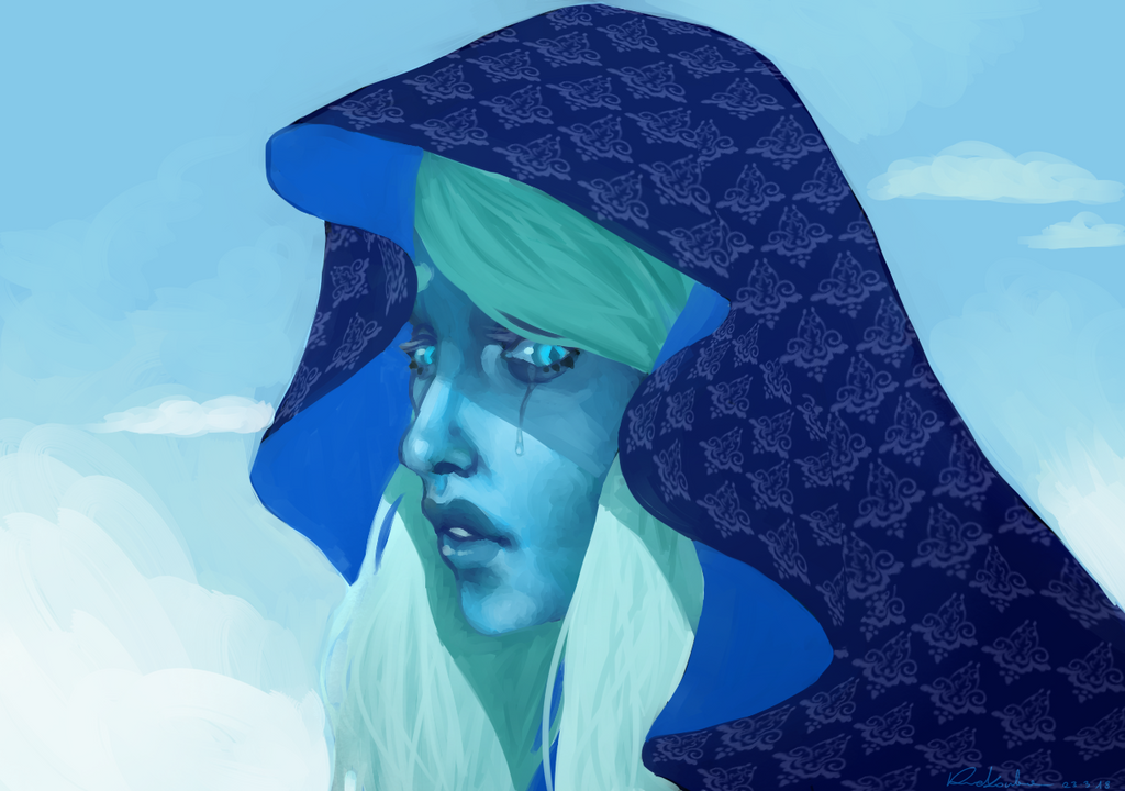 The pattern took me so long. Blue Diamond (c) Steven Universe