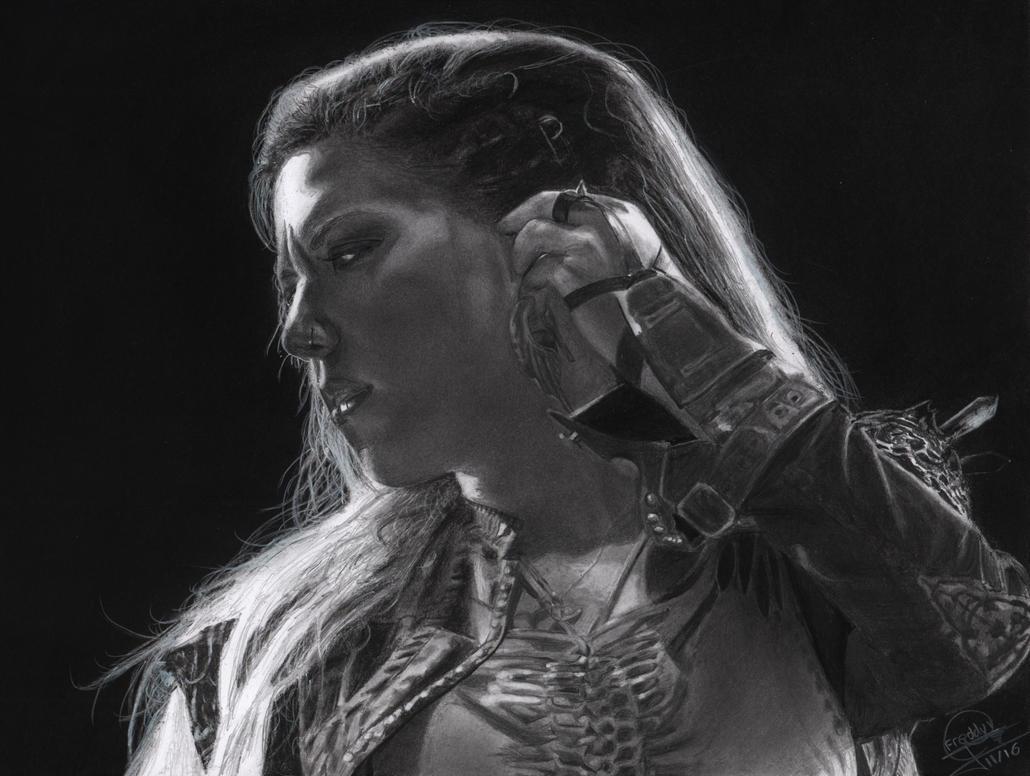Drawing Alissa White-Gluz - Arch Enemy Band by Eddyvl