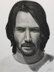 Drawing Keanu Reeves by Eddyvl
