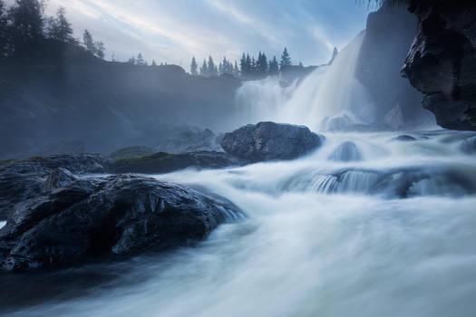 Facing The Waterfall
