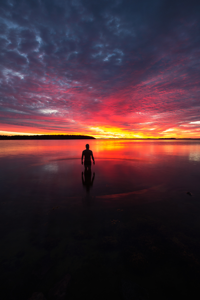 Silhouette n sky by calleartmark