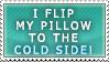 I flip my pillow -stamp-