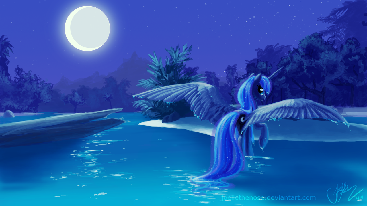 Nightswimming by JoelletheNose