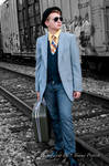 Waiting For The Train  0829 by: Tommy Propest by TommyPropest-Candler