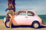 Pin up girls 7-Fiat 500