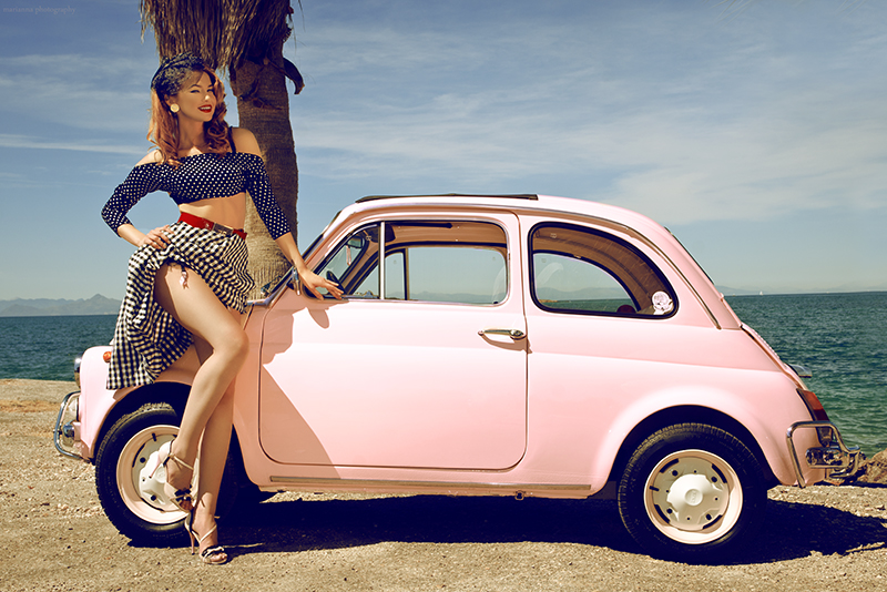 Pin up girls 7-Fiat 500 by mariannaphotography