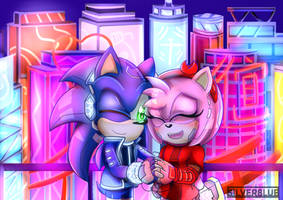 Cyberpunk SonAmy (Sonic X Amy)