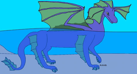 Aqua Dragon by Ataraxia25