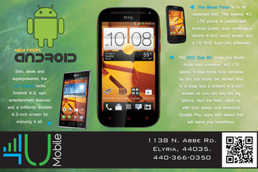4U Mobile - Mailer Design by null-ghoul