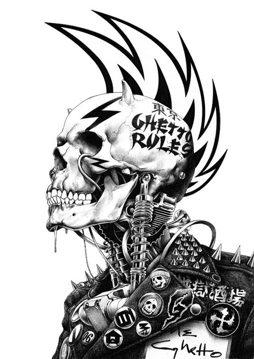 Punk Art by:Shohei Otomo by Ragnarok6664