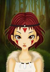 Mononoke hime by pachix