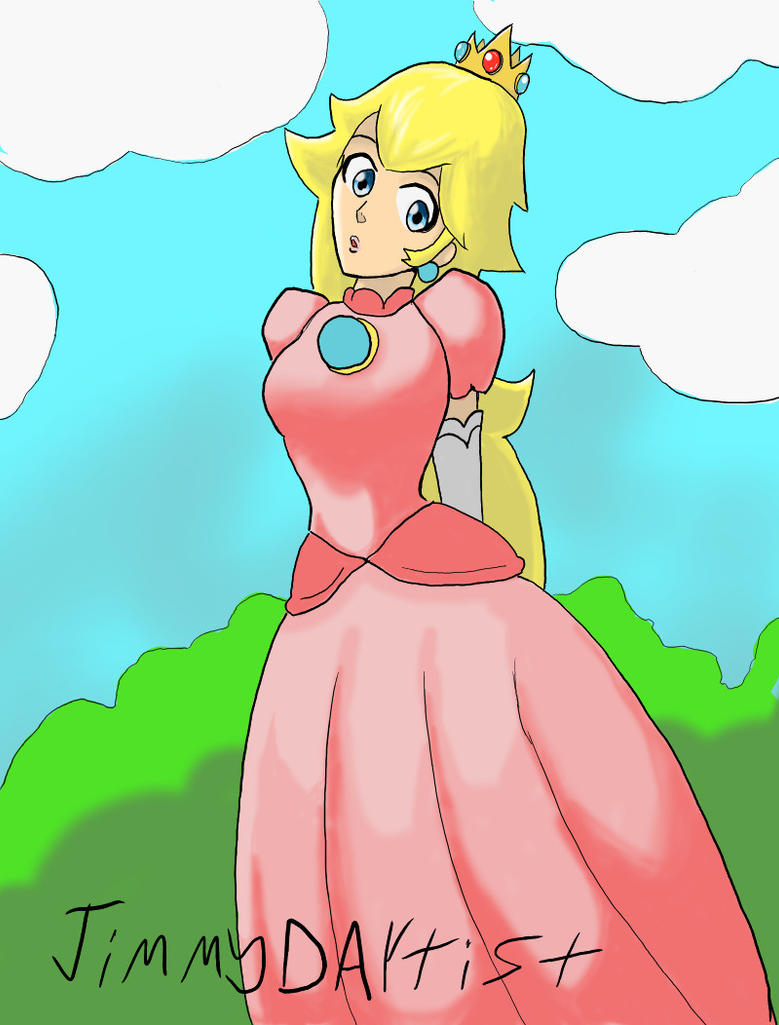 Princess Peach by JimmyDArtist