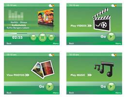 Mp3 player UI Design by tinjothomasc