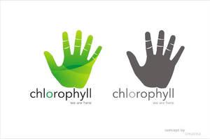 Chlorophyll logo glass style by tinjothomasc