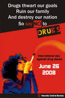 Say no to drugs Poster by tinjothomasc