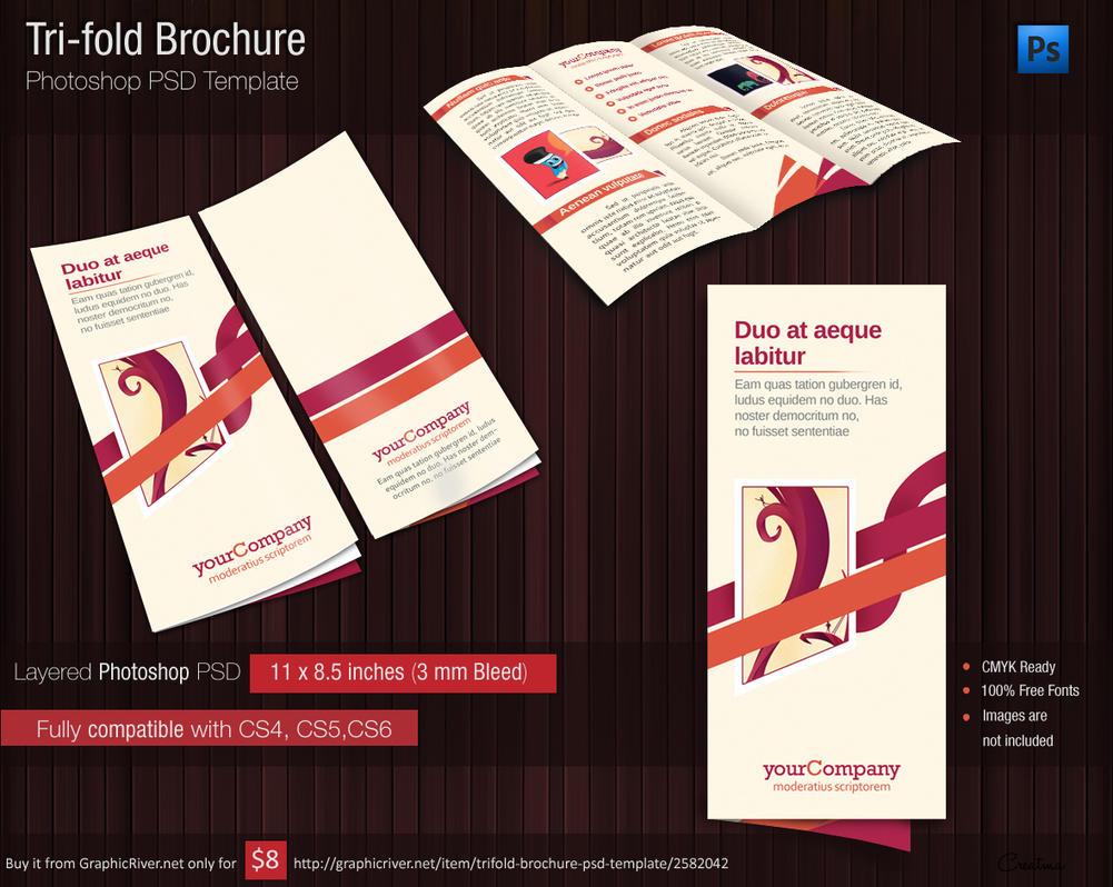 Tri Fold Brochure Photshop PSD Template For USD By Tinjothomasc - Brochure photoshop template