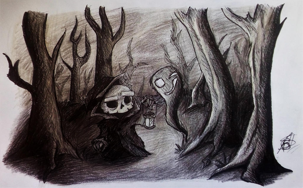 What an interesting ghost.. by SpookyDudeOWO