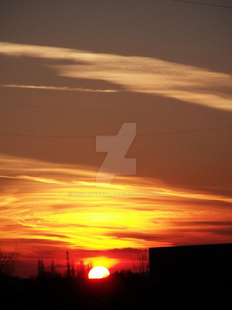 Sunset in the outskirts of Sofia by Bozzenheim