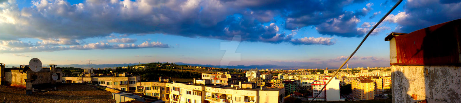 Panorama from my apartment block by Bozzenheim