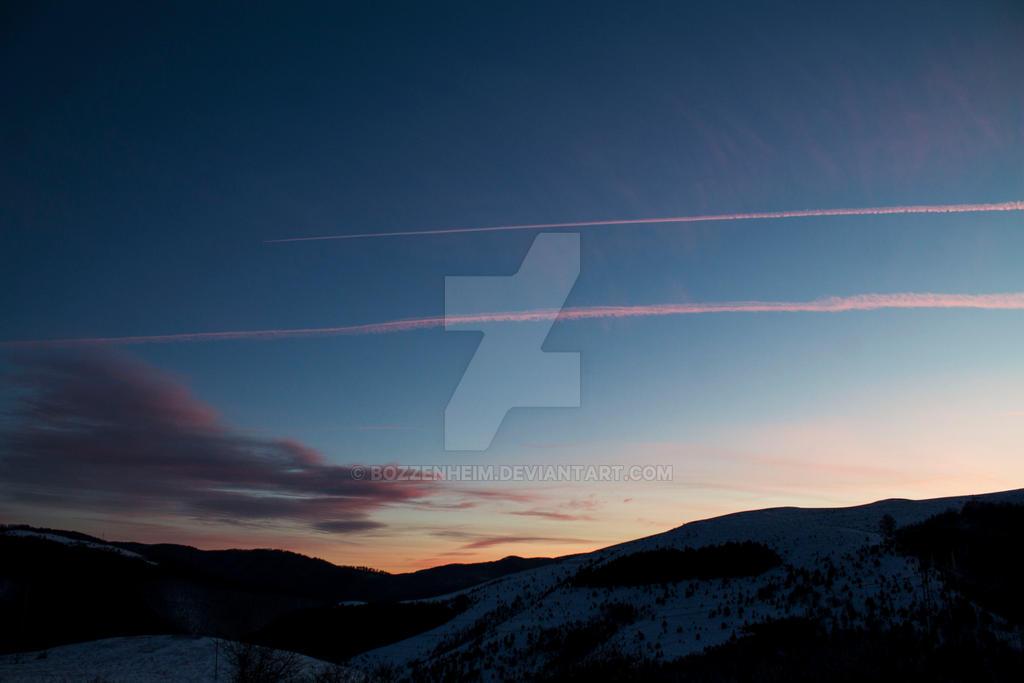 Winter Sunset I by Bozzenheim