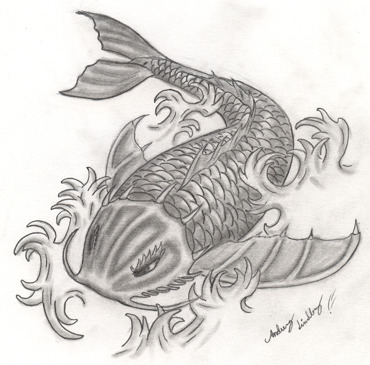 Dragon koi by blackidus on deviantart for Black dragon koi