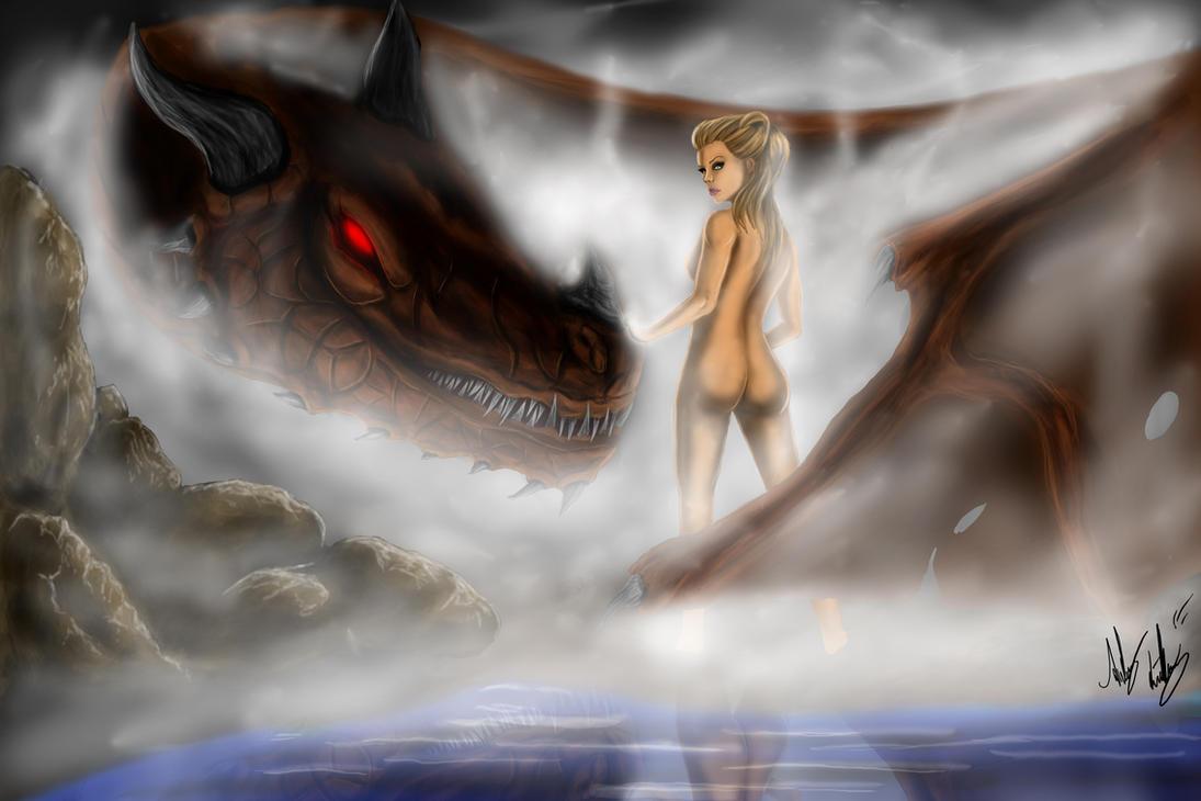 Dragon rider by Blackidus