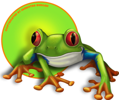 Philius the Red Tree Frog by Elixia-Dragmire