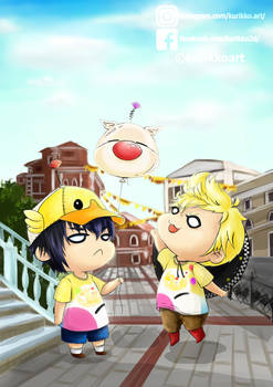 Noctis x Prompto at the carnival