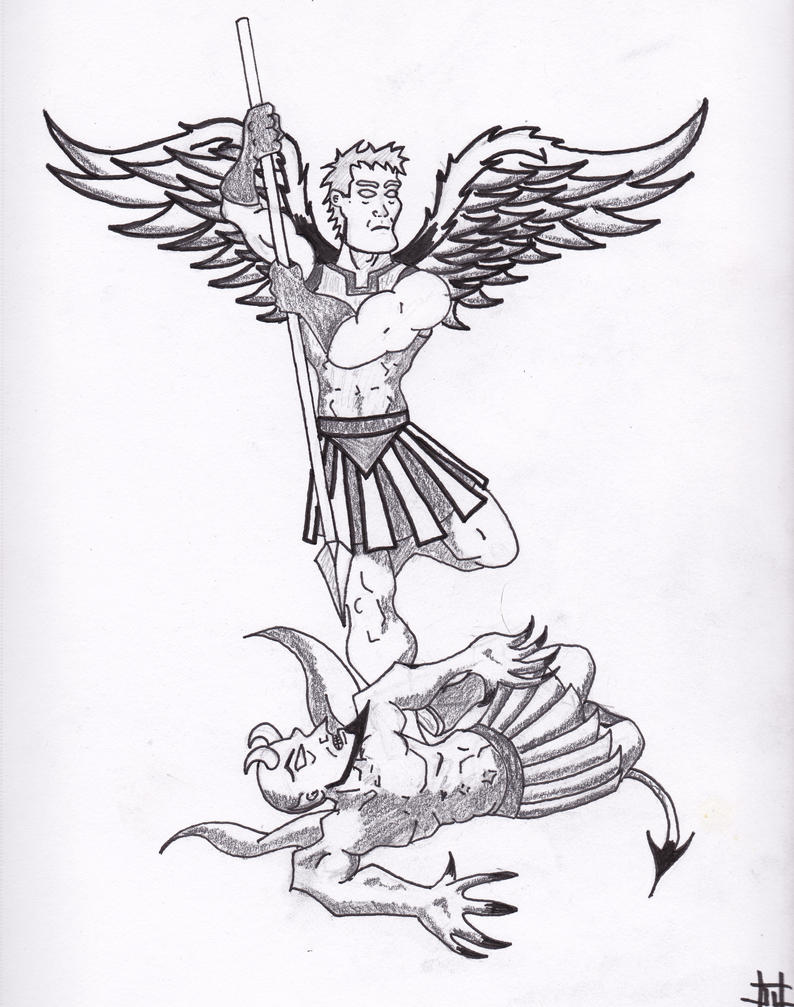 St. Michael the Archangel Tattoo Drawings