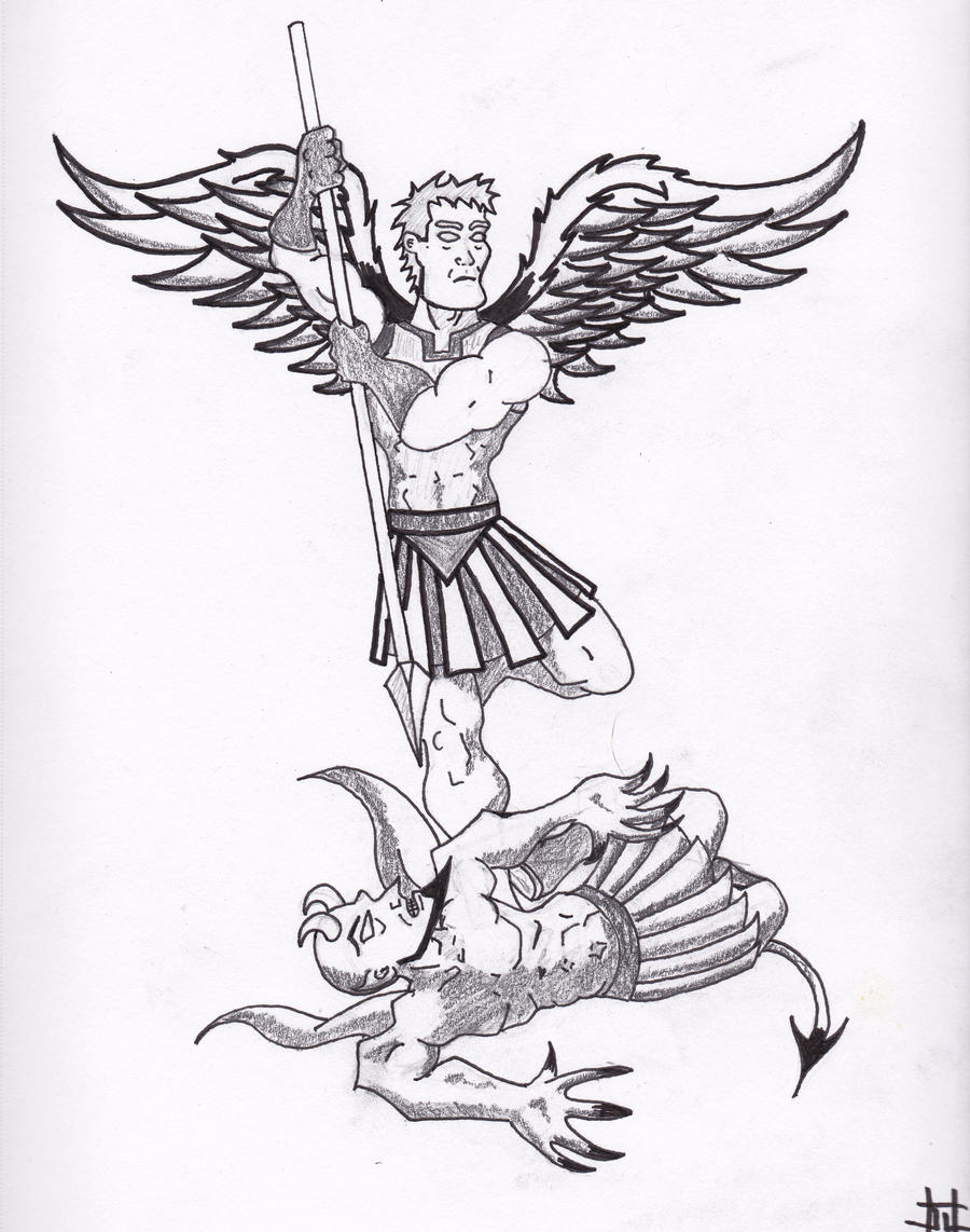 It's just a graphic of Dashing St Michael The Archangel Drawing
