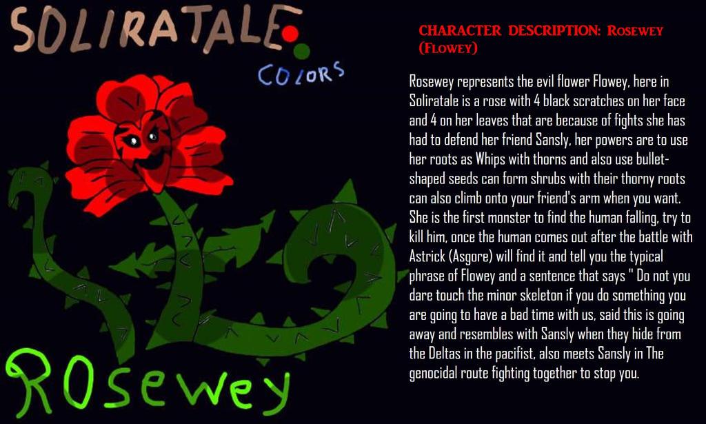 Rosewey-Soliratale-Flowey-BY-SHIBA1990(INGLES) by Shiba1990