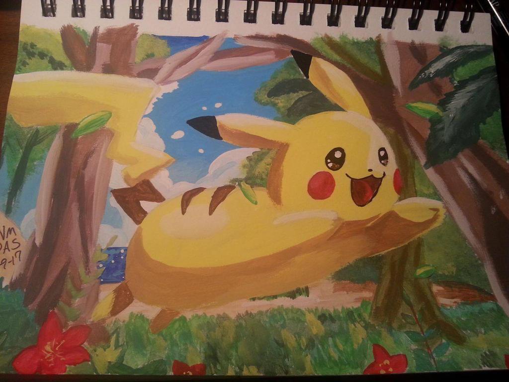 Pikachu by amayavanada